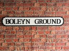 Vintage Wood Street Road Sign BOLEYN GROUND