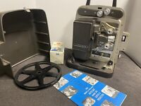 Bell & Howell Autoload Super Eight Design 346A Movie Projector W/ Spare Bulb
