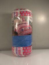 NEW Butterfly Dots Pink Girls 4-Piece Toddler Bedding Set
