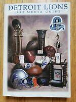 1993 Detroit Lions Press Media GuideRecord Book 60th Anniversary