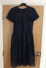 River Island Navy Lace Midi Dress