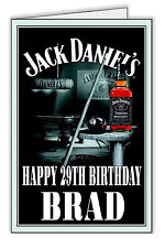 Jack Daniels Design Personalised Birthday Card Any name and Age