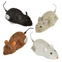 """Wind Up Racing 4 Mice-Realistic Mice Each Measures 4-1/2"""" long in Black Color"""
