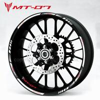 Yamaha MT-07 motorcycle wheel decals stickers rim stripes Laminated mt07 white