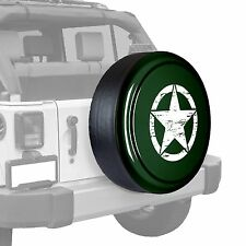Oscar Mike Star - Painted  Tire Cover fits Jeep Wrangler - Natural Green