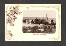 POSTCARD: GRUSS AUS KONSTANZ, GERMANY - SMALL PHOTO GLUED-ON FRONT - Mailed 1901