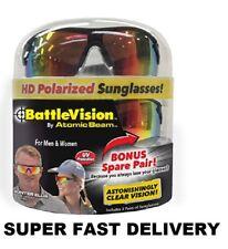 BATTAGLIA Vision-TROOPER Vision HD Polarized Occhiali da Sole UV-confezione da 2 Uomini Donne