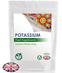 High Strength Potassium 200mg Tablets | Muscles Blood Nervous Function | UK (V)