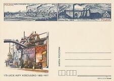 Poland prepaid postcard (Cp 674) metallurgy Kosciuszko