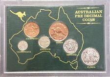 australian pre decimal coin collection in plastic case circulated condition