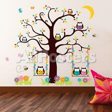 Owl Tree 2 Wall Decal Sticker - 56.5x65.5