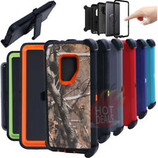 For Samsung Galaxy S9 Plus Camo Defender Case (with Clip Fits Otterbox)