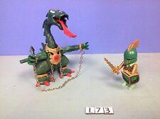 (L73) playmobil dragon vert chevalier ref 3840 3841