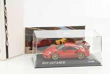 GT3 RS Porsche 911 991 II Weissach Paket indischrot mit Schrift 1:43 Minichamps