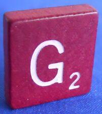 Single Maroon Scrabble Wood Letter G Tile One Only Replacement Game Parts Pieces