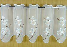"""Scheibengardine Plauener Spitze ® """"Kirschblüte"""" 29/49 cm  Gardine Vorhänge"""