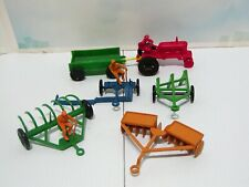 6pc. Vintage Marx Farm Playset Machinery Set