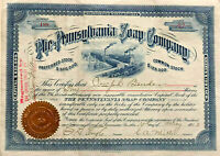 The Pennsylvania Soap Company > 1903 stock certificate