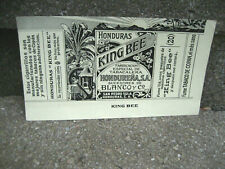 Vintage King Bee Cigarette Tobacco Packaging Label.....Honduras