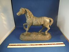 Antique Metal Equestrian Horse Statue