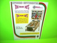 Recel 1974 The FIERY 30s Original Flipper Pinball Machine AD PROMO ART German