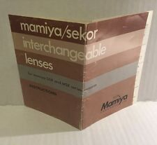Vintage Mamiya/Sekor Interchangeable Camera Lenses - User Instructions Manual