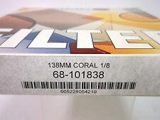 NEW SCHNEIDER 138MM CORAL 1/8 ROUND GLASS FILTER #68-101838