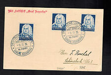 1935 Germany Graf Zeppelin Postcard Cover to Schonebeck Lz 127 16th Saf