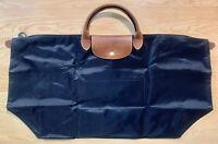 LONGCHAMP LE PLIAGE XLARGE OVERNIGHTER OVERNIGHT TRAVEL BAG BLACK RARE XL TOTE