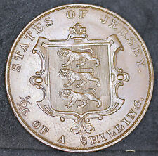 Jersey, Channel Islands, Victoria, 1/26 Shilling, Just About Uncirculated