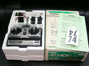 Vintage Futaba ATTACK-R 2NBR 75MHz Radio Set for Optima Ultima JRX2 JRXT RC10T !