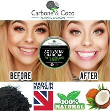 100% Activated Charcoal Teeth Whitening Carbon Powder Carbone & Coco ™