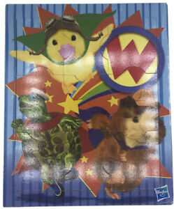 Hasbro WONDER PETS Wood Board Puzzle Framed 9pc Linny Tuck Ming Ming 2009 RARE
