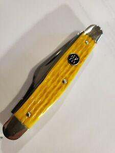 Vintage J. A. Henckels Stockman Pocket Knife Bone Solingen Germany Rare 4 blade