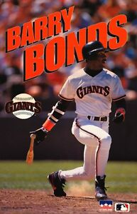 "STARLINE POSTER~Barry Bonds 1993 Original San Francisco Giants MLB 22x34"" Rare~"