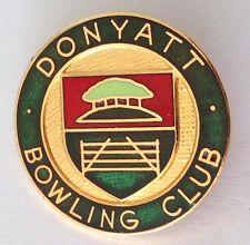 Donyatt Bowling Club Badge United Kingdom Rare Vintage (M13)