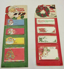 Christmas Gift Tag/Card Assortment 2 pkgs Vintage Eureka Made in USA NOS