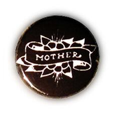 Badge TATTOO MOTHER Noir . biker rock rockabilly punk kustom pin up kawaii Ø25mm