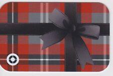 Target Box Present Black Ribbon Red Tartan Plaid 2014 Gift Card 790-01-2216