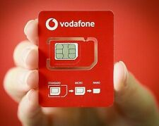 New Latest Vodafone Unlimited Calls, text& Data UK Pay As You Go  PAYG SIM Card