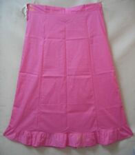 Pink Pure 100% Cotton Frill Full Long Petticoat Skirt Sari Saree Costume #H