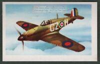 Hawker Hurricane British WWII Fighter Vintage Trade Ad Card