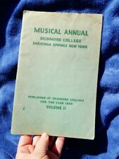 1933 Vintage School Songs - MUSICAL ANNUAL SKIDMORE COLLEGE, SARATOGA SPRINGS NY