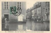 CPA 45 ORLEANS RUE DES TURCIES CRUE DE LA LOIRE 1907