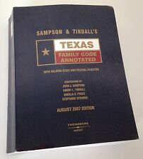 Sampson & Tindall's Texas Family Code Annotated August 2007 Ed Textbook