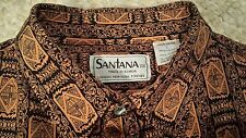 Vintage Santana 100% Rayon Long Sleeve Button Front Men's Shirt Size Large Korea
