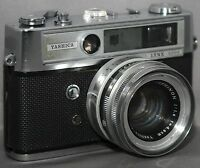 YASHICA LYNX-5000 35mm Vintage RANGEFINDER Film Camera  - Shutter problem AS IS
