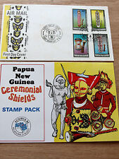 PNG 1984  Ceremonial Shields stamp pack + FDC