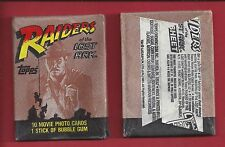 1981 Topps Raiders of the Lost Ark single Wax Pack