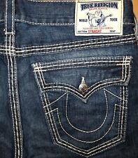 Original TRUE RELIGION Jeans STRAIGHT-CUT Ricky blue W 36/34 bobby logan geno
